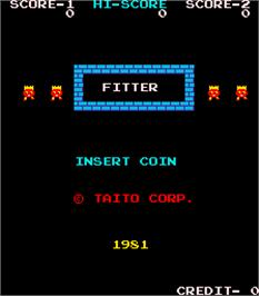 Title screen of Fitter on the Arcade.