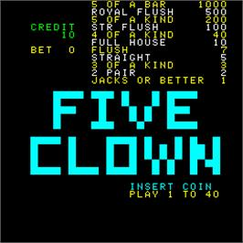 Title screen of Five Clown on the Arcade.