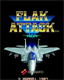 Title screen of Flak Attack on the Arcade.