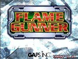Title screen of Flame Gunner on the Arcade.