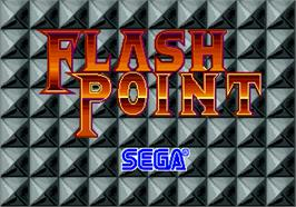 Title screen of Flash Point on the Arcade.