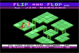 Title screen of Flip & Flop on the Arcade.