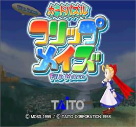Title screen of Flip Maze on the Arcade.
