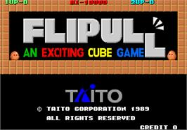 Title screen of Flipull on the Arcade.