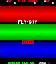 Title screen of Fly-Boy on the Arcade.