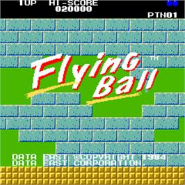 Title screen of Flying Ball on the Arcade.