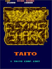 Title screen of Flying Shark on the Arcade.