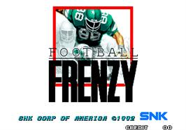 Title screen of Football Frenzy on the Arcade.