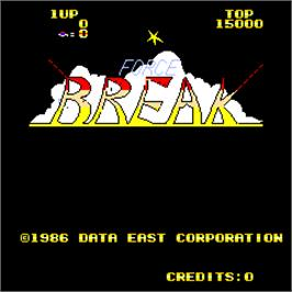 Title screen of Force Break on the Arcade.