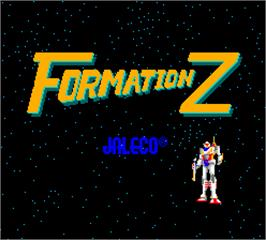 Title screen of Formation Z on the Arcade.