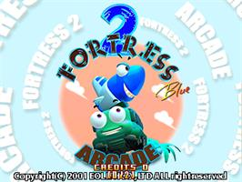 Title screen of Fortress 2 Blue Arcade on the Arcade.
