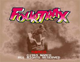 Title screen of Four Trax on the Arcade.
