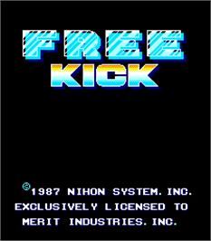 Title screen of Free Kick on the Arcade.