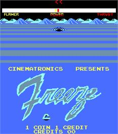 Title screen of Freeze on the Arcade.