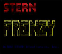 Title screen of Frenzy on the Arcade.