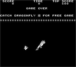 Title screen of Frogs on the Arcade.