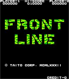 Title screen of Front Line on the Arcade.