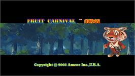 Title screen of Fruit Carnival Nudge on the Arcade.
