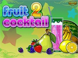 Title screen of Fruit Cocktail 2 on the Arcade.