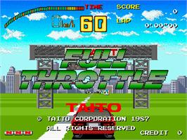 Title screen of Full Throttle on the Arcade.