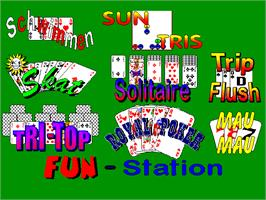 Title screen of Fun Station Spielekoffer 9 Spiele on the Arcade.