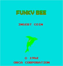 Title screen of Funky Bee on the Arcade.