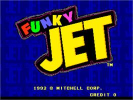 Title screen of Funky Jet on the Arcade.