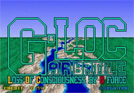 Title screen of G-LOC R360 on the Arcade.