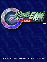 Title screen of G-Stream G2020 on the Arcade.
