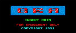 Title screen of G.E.A. on the Arcade.