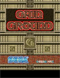 Title screen of Gain Ground on the Arcade.