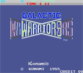 Title screen of Galactic Warriors on the Arcade.