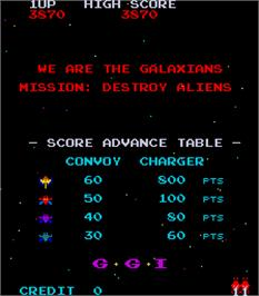 Title screen of Galaxian Part 4 on the Arcade.