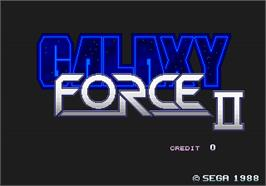 Title screen of Galaxy Force 2 on the Arcade.