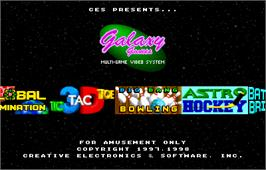 Title screen of Galaxy Games StarPak 2 on the Arcade.
