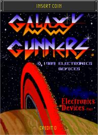 Title screen of Galaxy Gunners on the Arcade.