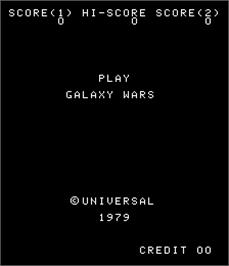Title screen of Galaxy Wars on the Arcade.