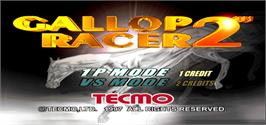 Title screen of Gallop Racer 2 on the Arcade.