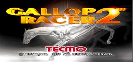 Title screen of Gallop Racer 2 Link HW on the Arcade.