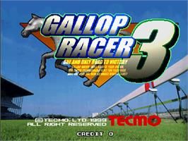 Title screen of Gallop Racer 3 on the Arcade.