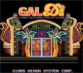 Title screen of Gals Ds - Three Dealers Casino House on the Arcade.