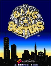 Title screen of Gang Busters on the Arcade.