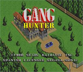 Title screen of Gang Hunter on the Arcade.