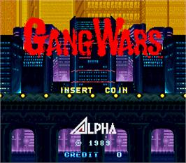 Title screen of Gang Wars on the Arcade.