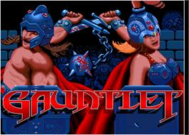 Title screen of Gauntlet on the Arcade.