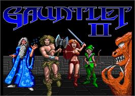 Title screen of Gauntlet II on the Arcade.