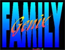 Title screen of Genix Family on the Arcade.