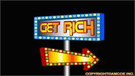 Title screen of Get Rich on the Arcade.