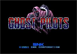 Title screen of Ghost Pilots on the Arcade.