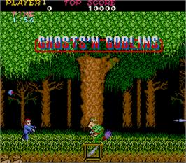 Title screen of Ghosts'n Goblins on the Arcade.